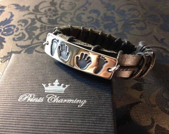 Chunky Leather ID Bracelet