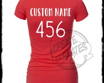 Custom Name and Number Iron-On
