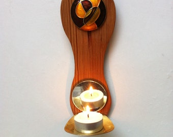 Hand crafted wall sconce