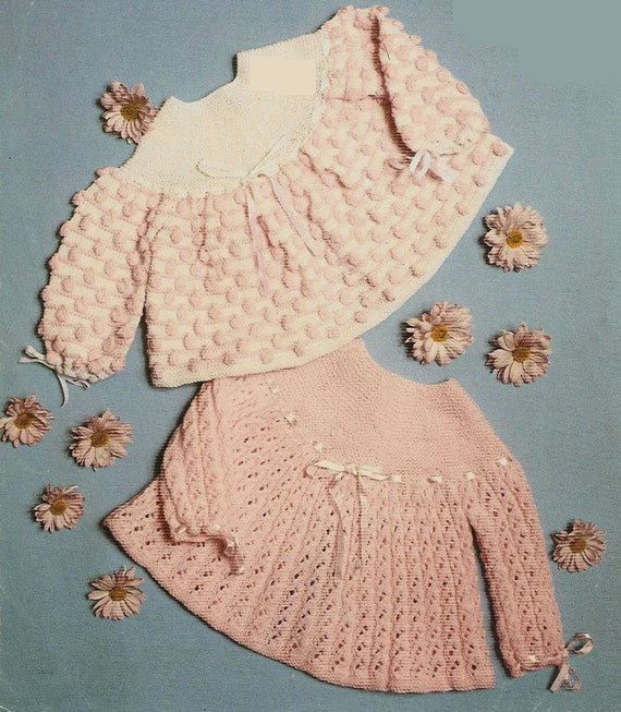 Vintage Baby Cardigan Knitting Pattern : Knit Baby Cardigan Sweater Vintage Pattern toddler knitting