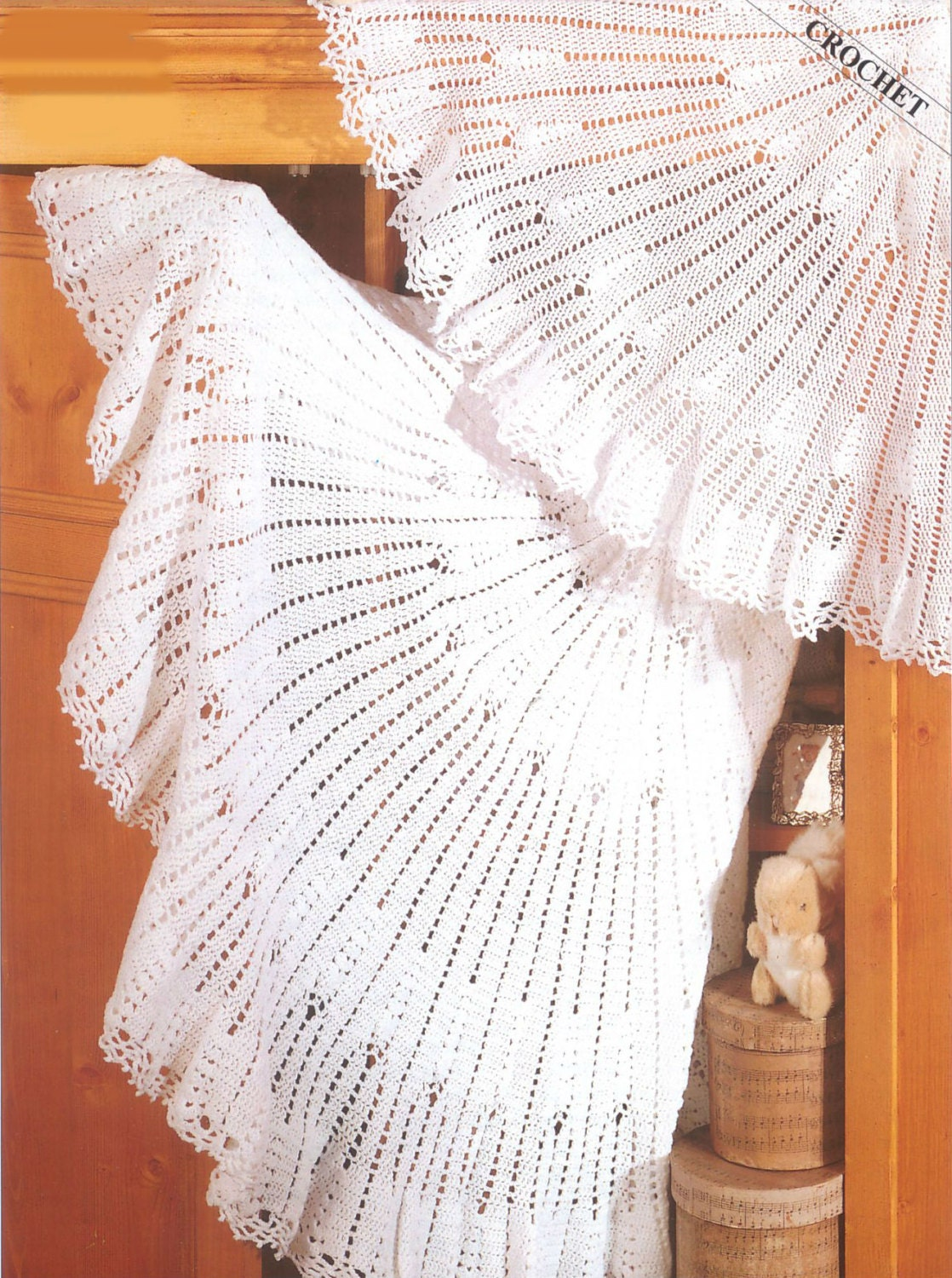 Knitting Pattern For Round Baby Shawl : Crochet Circular Lace Shawl Vintage Pattern round Crochet