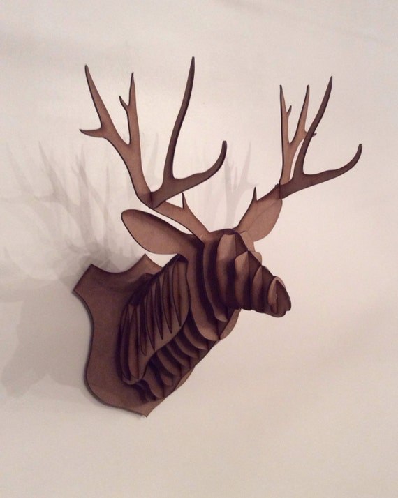 Contemporary Small Deer Head Trophey Stag Head 3d By