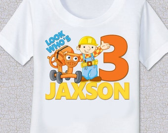 Bob the Builder personalized birthday Tshirt Shirt