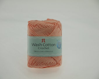Hamanaka Wash Cotton Crochet Yarn Color 105 (Orange)