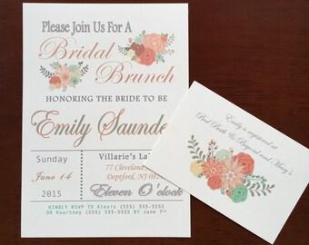 Printable Bridal Brunch Bridal Shower Invitation