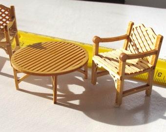 Miniature PORCH furniture, natural wood