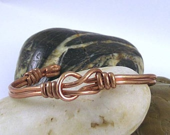 Early Egyptian Copper Reef Knot Bracelet - Hercules or Lover's Knot