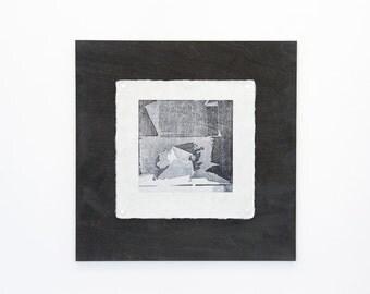 "Handmade Woodblock Print - ""Choices"""