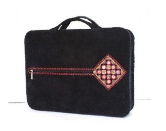 Leather Balochi Style Laptop Bag