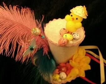 Easter Mini Top Hat Chick Eggs Easter Parade Easter Bonnet Adult or Child Alice in Wonderland Mad Hatter Tea Party