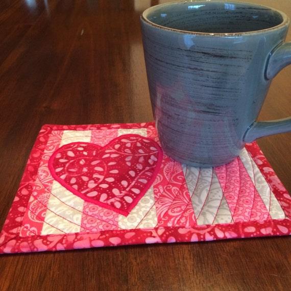Easy Valentines Mug Rug Pattern