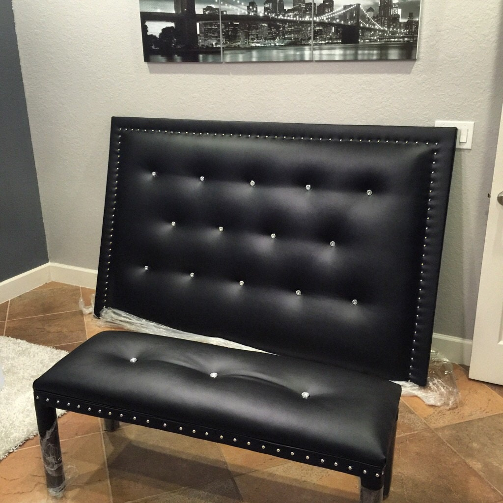 King Bed Set Headboard And Matching Bench