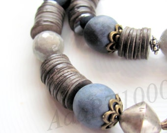Labradorite - Duomortierit Chain: 20.472 in,(Duo 203)