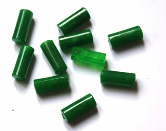 Vintage green lucite beads