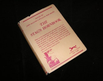1943 RARE Stag's Hornbook, edited by John McClure, Pocket Volume of 500 Poems and Songs for Men