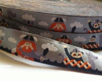 1m woven ribbon: viking