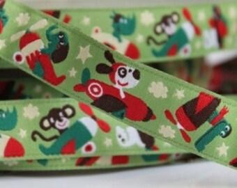 1m woven ribbon: animal flight