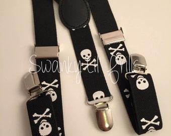 Skull Suspenders, Kids Adjustable Suspenders, Kids Suspenders, Adjustable Suspender, Kids Suspenders, Accessories