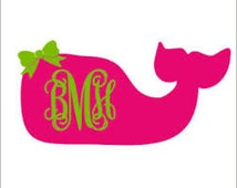 Popular Items For Whale Monogram On Etsy