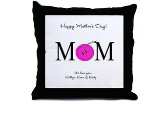 Mom Button Sewing Pillow. Personalized