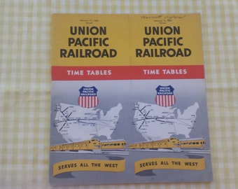 1959 Union Pacific Railroad Time Tables for Jan. 11 1959