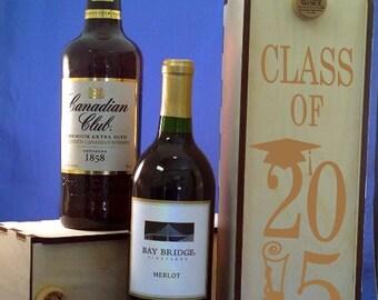Sliding Lid Baltic Birch Wine Box-Spirits Box-Wedding Gift-Graduation Gift-Wooden wine box with sliding lid-Wine Box-Presentation Box-Gift