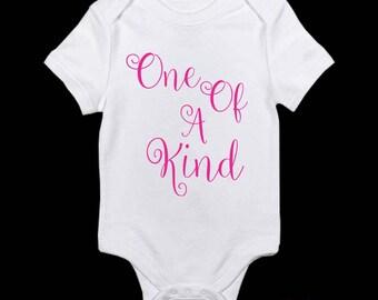 ONE OF A KIND Babies Toddlers Kids Ladies Custom Onesie Tshirt Romper or Singlet - Many Size and colour variations personalised monogrammed