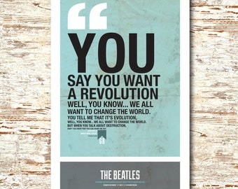 The Beatles- Lyric Quote 11x17""