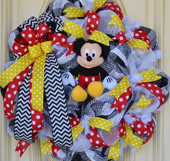 Mickey Mouse Wreath Door Decoration Mickey Mouse Gift
