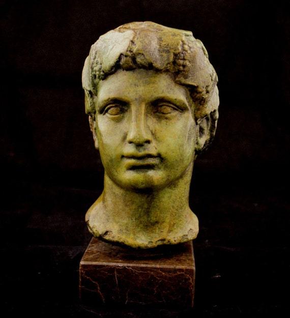 Dionysus bronze statue bust God of winemaking by GreekDemigods