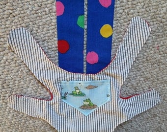Custom Carrier For Baby Doll or Stuffed Animal White Stripes Dots Frogs
