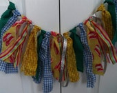 Wizard of Oz Birthday Rag Garland -by the foot