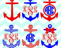 Anchor designs SVG and studio files for Cricut, Silhouette, Vinyl Cutters and Screen Printing