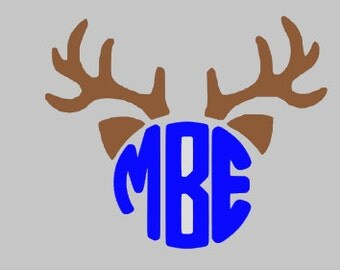 buck horns with monogram