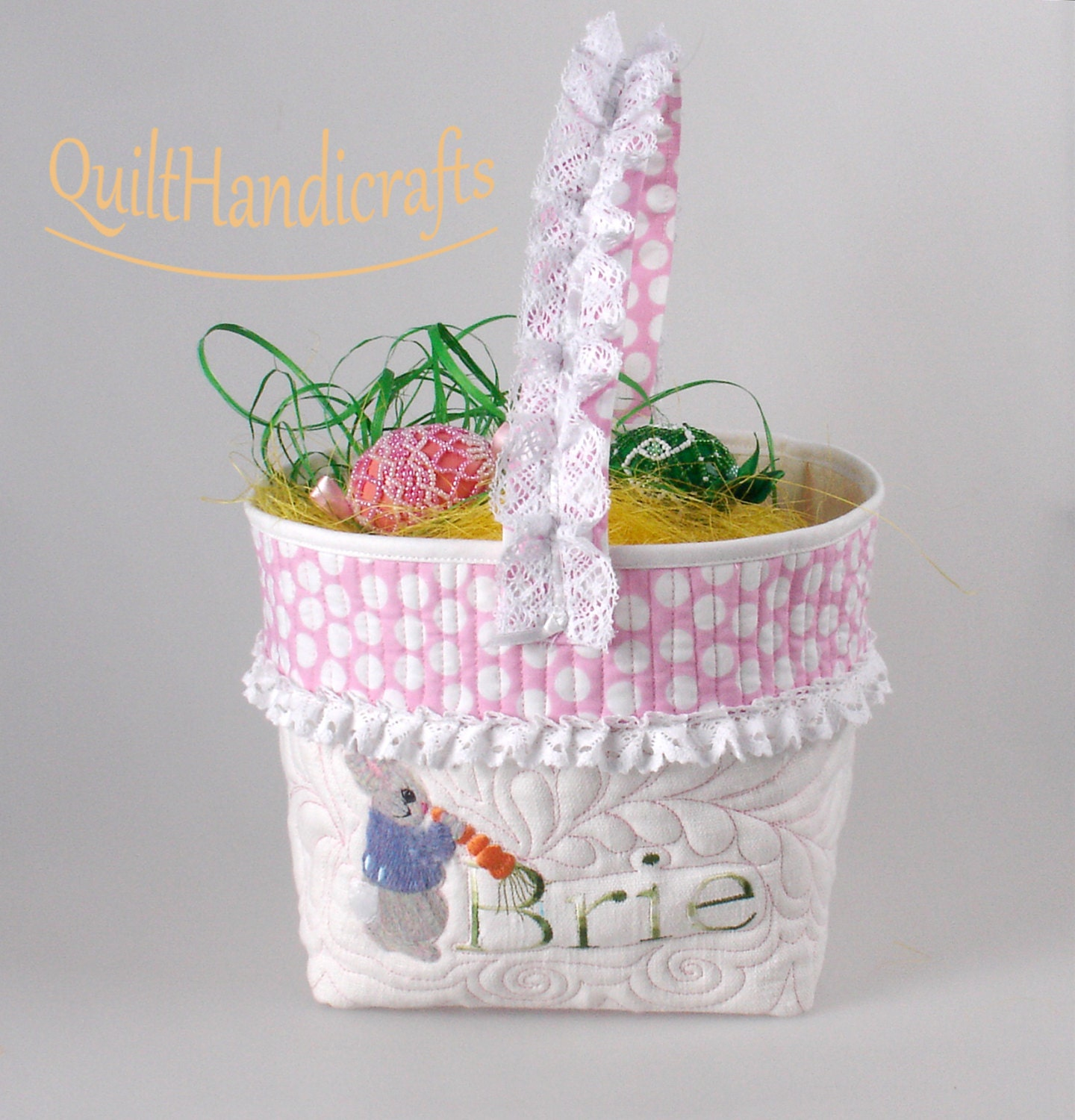 Easter Decor Girls Personalized Easter Basket By