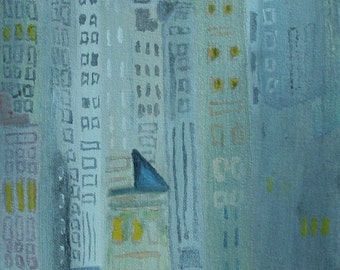 Skyscrapers Oil Painting