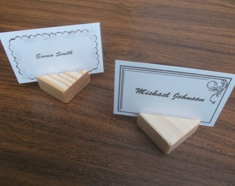 10 Wood place card holders, Table number holders, Wedding decor, Cafe, Restaurant, Wedding, party, Rustic, wedding cardholder