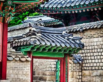 Stone City in Seoul Korea, Home Decor Korea, Asian Wall Art, Fine Art Photography, Canvas Gallery Wrap, Archival Photographic Paper & Metal