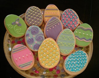 Easter Eggs and Chicks Cookies