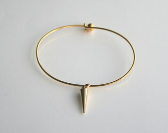 Gold spike, simple, layering, bangle - GOLD SPIKE BANGLE