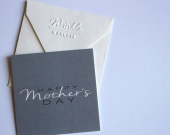 Mini Notecard - Happy Mothers Day Card, Mom's Day Card, Mothers Day, Modern Greeting Card