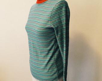 Fantastic Mod Rainbow Turtleneck Sweater - Mint Condition