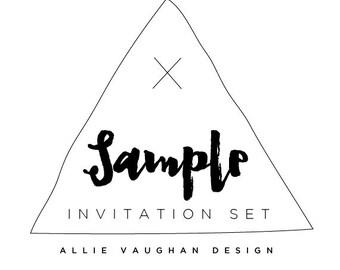 Sample of Any Invitation Set