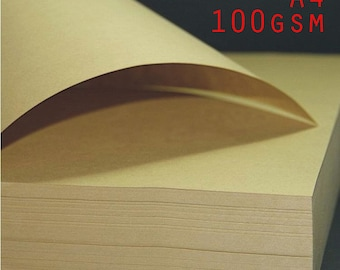100 PCs/Lot Brown Kraft Paper A4 100gsm Gift Wrapping Paper Printing Paper