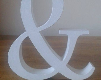 Colour Wooden & Symbol - Free-standing - Ampersand Sign, 13cm Large Symbol