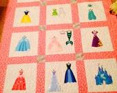 Disney Princess Inspired Applique Quilt Pattern - Instant Digital Download