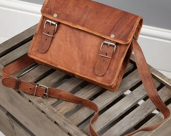 Small Leather Satchel By Vida Vida