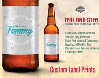 WEDDING BEER LABELS Customized Beer Label For Asking Your Ladies To Stand With You!