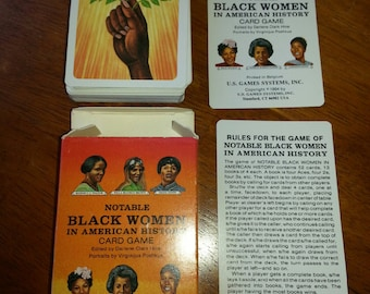 Notable Black Women Playing Cards