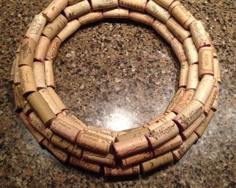 Three-Tiered Cork Wreath